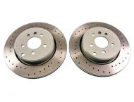 Cross Drilled Rear Brake Discs (pair) (Evora, Exige V6)