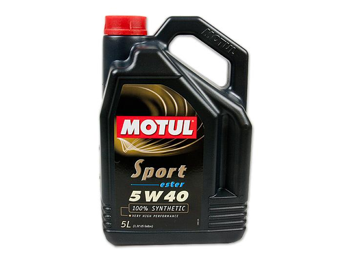 Motul Sport 5W40 Fully Synthetic Oil (5 LTR)
