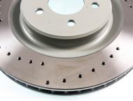 Evora Cross Drilled Front Brake Discs (pair) (up to Evora 400)
